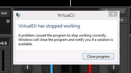 DJ Software - VirtualDJ - VDJ 8 2 crashing with directx