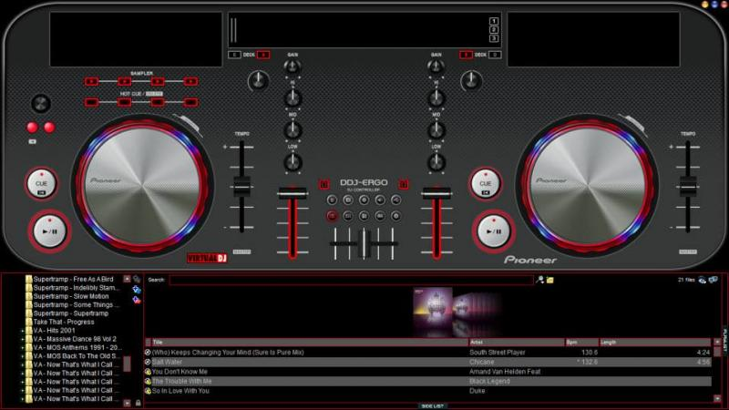 skin virtual dj pioneer ddj-ergo