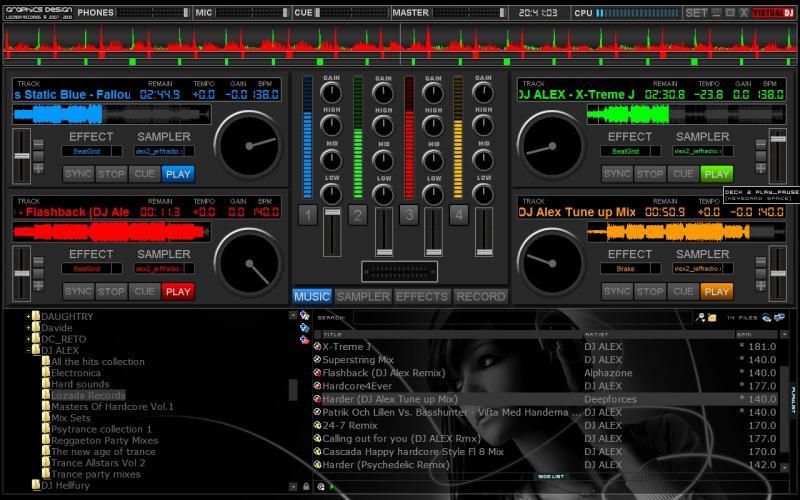 virtual dj decks